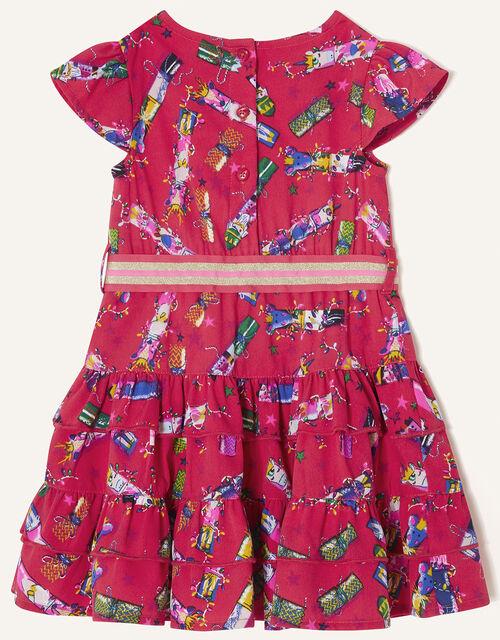 Baby Christmas Cracker Rara Dress , Red (RED), large