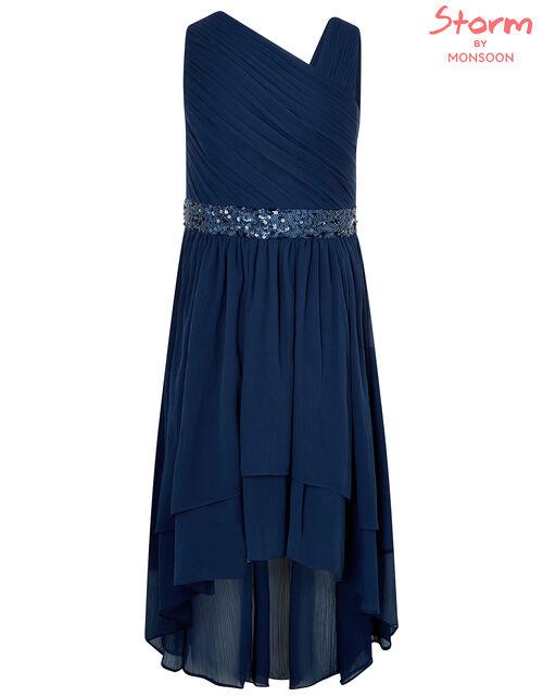 Abigail One-Shoulder Sequin Prom Dress, Blue (NAVY), large