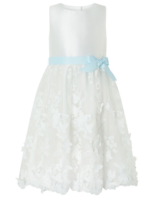 Butterfly Mesh Occasion Dress, Ivory (IVORY), large