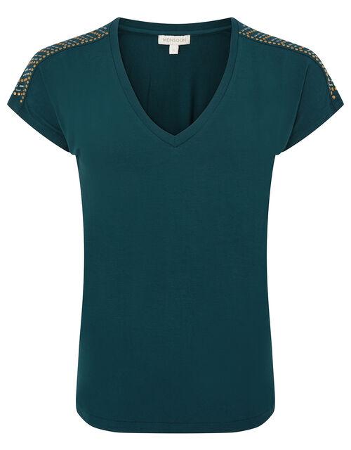 Heat-Seal Gem T-shirt, Teal (TEAL), large