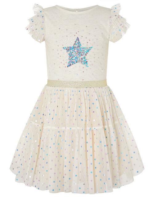Foil Star Disco Dress, Pink (PINK), large