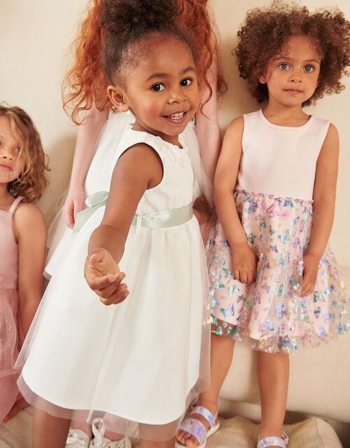 Baby Freya Lace Bridesmaids Dress , Ivory (IVORY), large