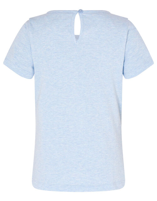 Sequin Bunny T-Shirt, Blue (BLUE), large