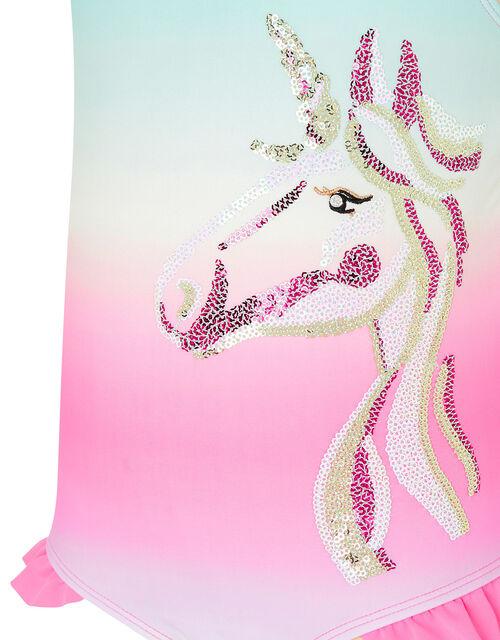 Sequin Unicorn Rainbow Swimsuit, Multi (MULTI), large