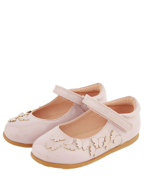 Baby Butterfly Patent Walker Shoes Pink, Pink (PALE PINK), large