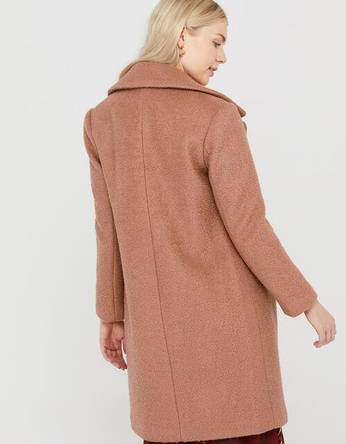 Billie Boucle Coat in Wool Blend, Soft Pink, large