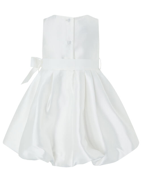 Baby Pearl Puffball Occasion Dress, Ivory (IVORY), large