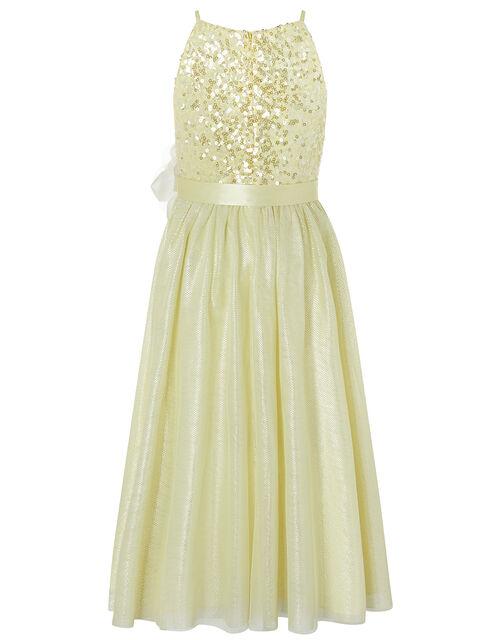 Truth Sparkle Maxi Dress, Yellow (LEMON), large