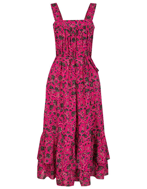 Shiloh Floral Print Tiered Sundress, Pink (PINK), large