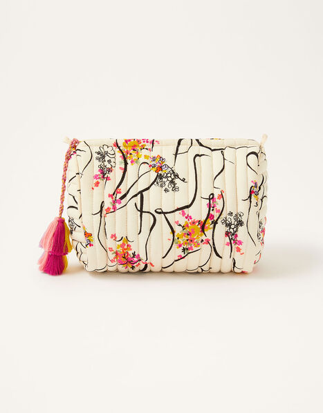 Lady Garden Printed Washbag in Organic Cotton, , large