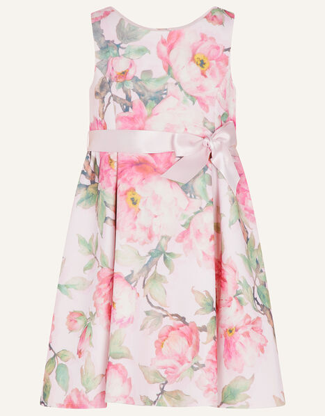 Baby Betty Floral Scuba Dress Pink, Pink (PINK), large