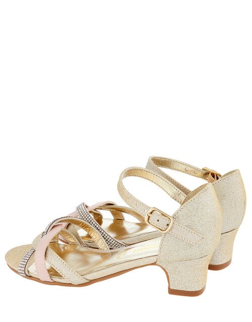 Marianna Dancing Strappy Sandals, Gold (GOLD), large