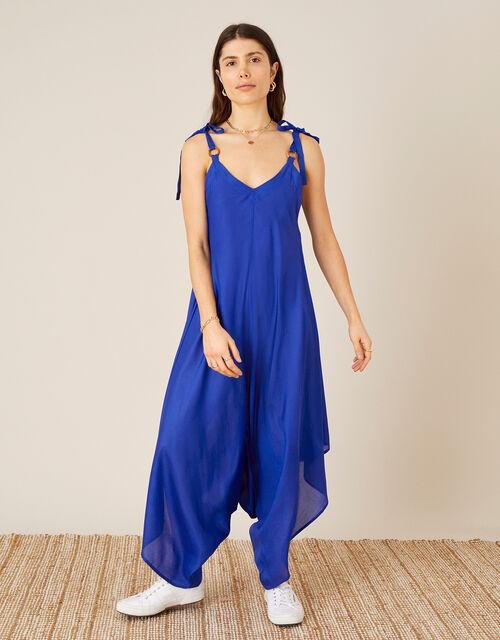 Relaxed Romper in LENZING™ ECOVERO™, Blue (COBALT), large
