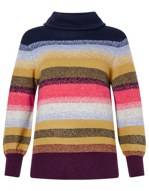 Brushed Stripe Knit Jumper, Multi (MULTI), large