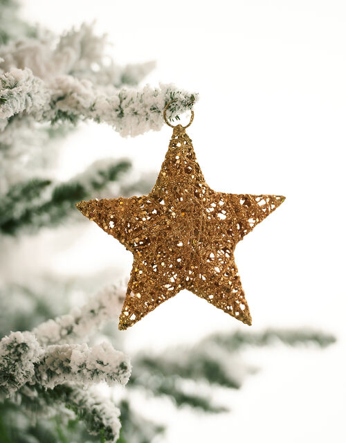 Glitter Wire Star Hanging Decoration, , large