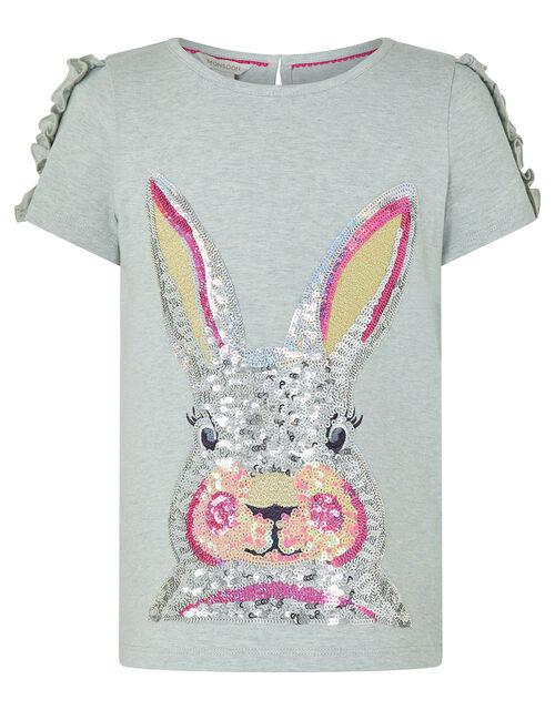 Sequin Bunny T-shirt, Grey (GREY), large