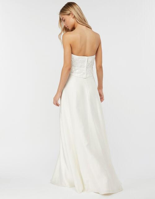 Jane Satin Bridal Maxi Skirt, Ivory (IVORY), large