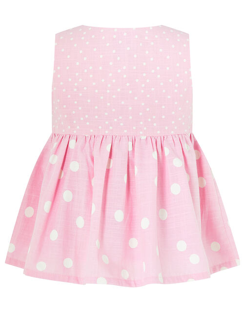 Baby Suzie Spot Top and Shorts Set, Pink (PINK), large