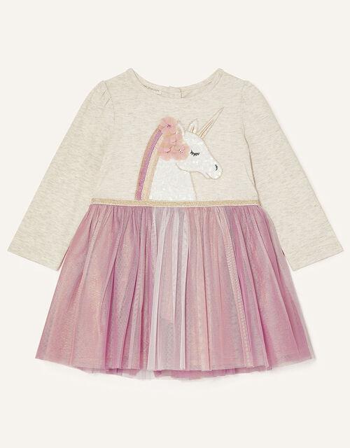 Baby Unicorn Disco Dress, Pink (PINK), large