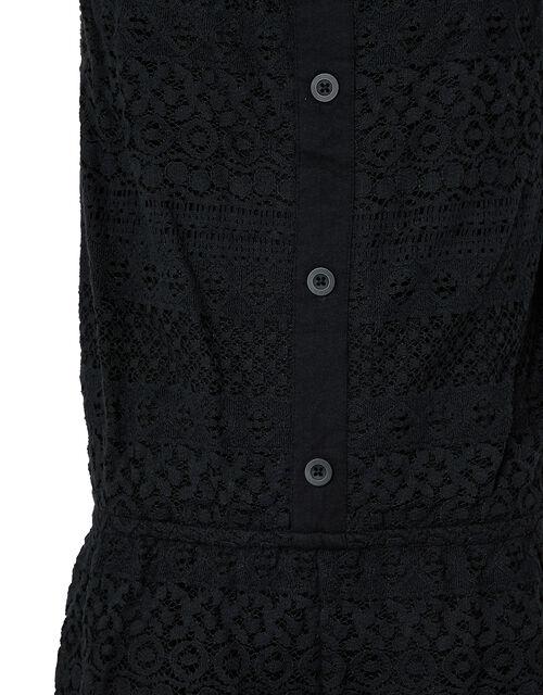 Leah Lace Playsuit, Black (BLACK), large