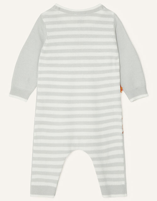 Newborn Giraffe Sleepsuit, Grey (GREY), large