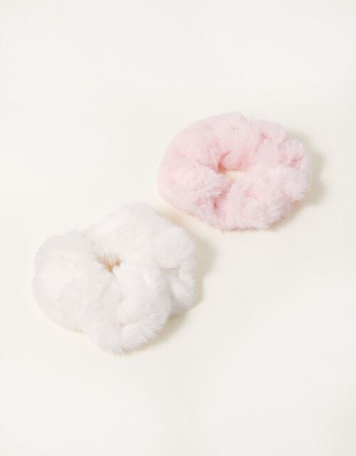 Pearly Fluffy Scrunchie Set, , large