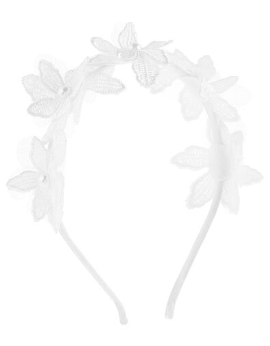 Lucy Lacey Flower Headband, , large