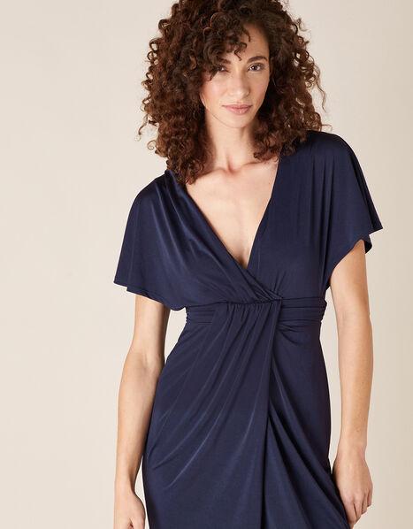 Jessica Slinky Jersey Maxi Dress Blue, Blue (NAVY), large