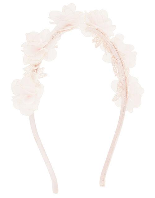 Pom Lacey Flower Headband, , large