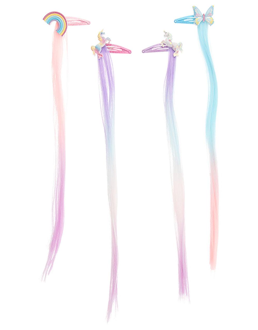 Rainbow Hair Snap Clip Set, , large