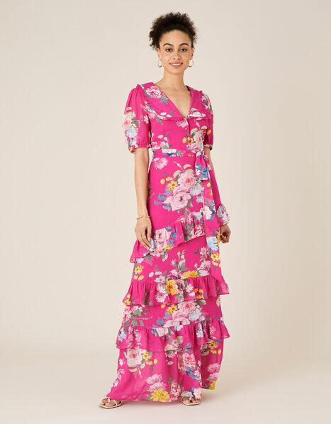 Vivenne Floral Maxi Dress  Pink, Pink (PINK), large