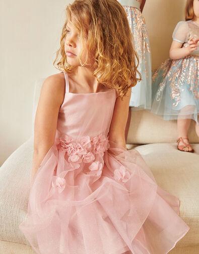 Blossom Glitter Tulle Dress Pink, Pink (PINK), large