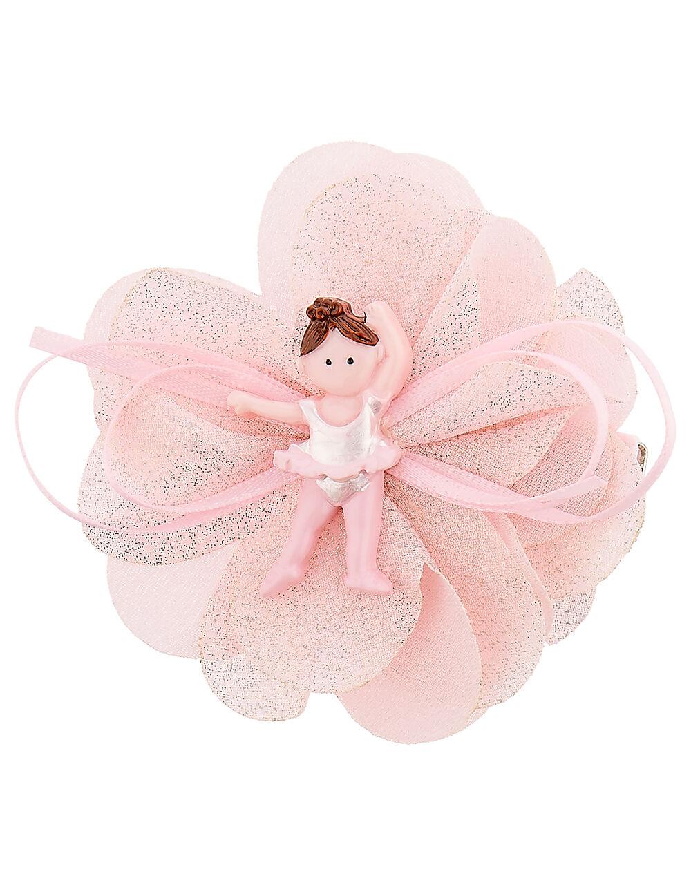 Ruffle Ballerina Hair Clip, , large