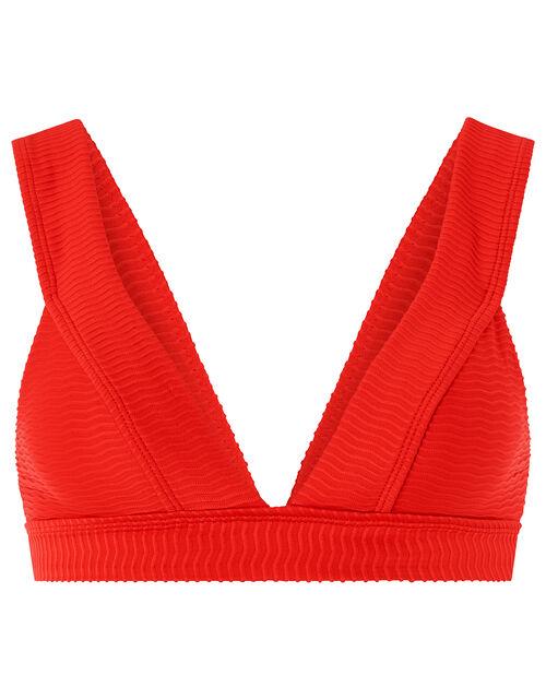 Zarela Triangle Bikini Top, Red (RED), large