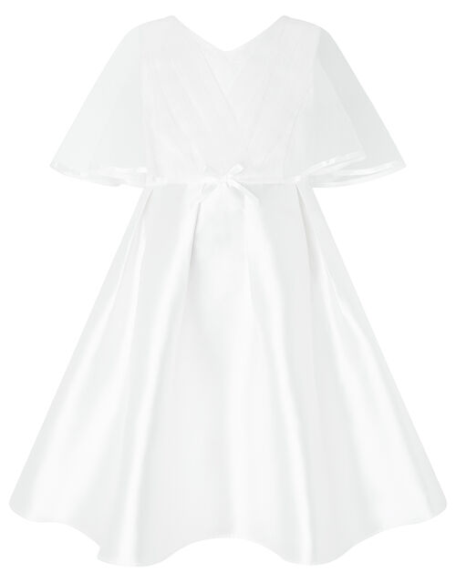 Sherry White Cape Occasion Dress, White (WHITE), large