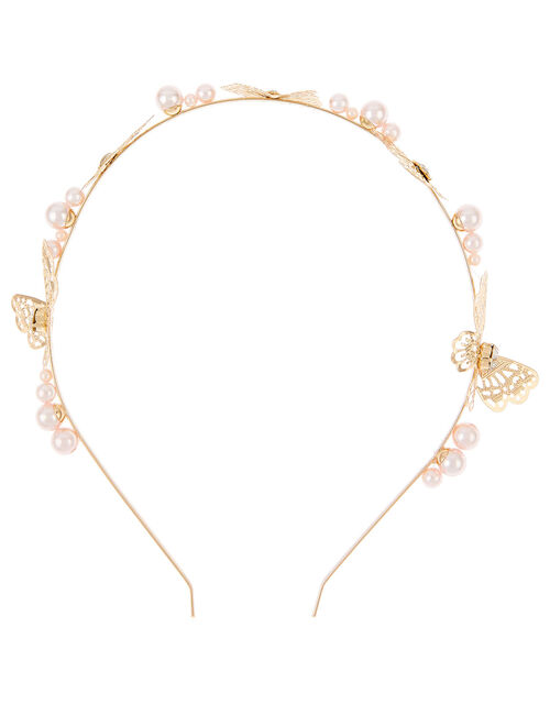 Eugena Pearly Butterfly Headband, , large