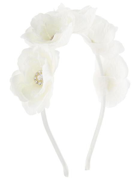 3D Flower Sparkle Headband, , large