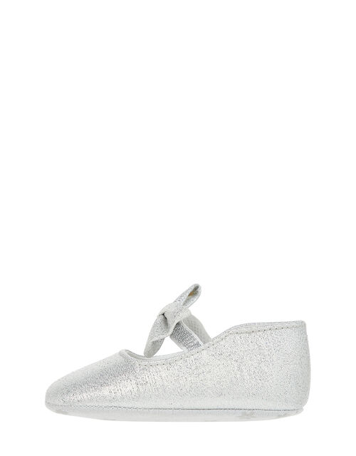 Baby Everly Sparkle Booties, Silver (SILVER), large