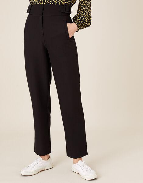 Smart Tapered Trousers Black, Black (BLACK), large