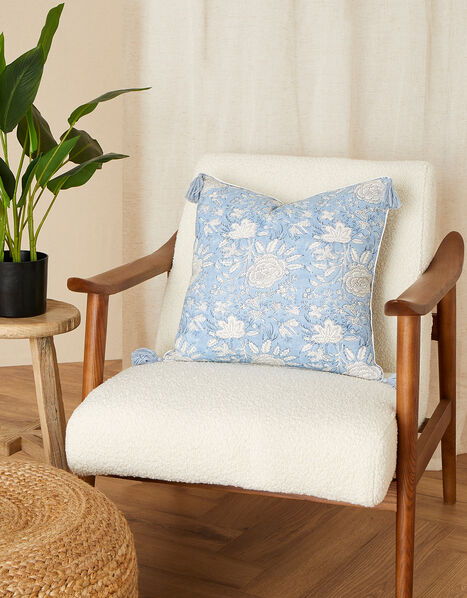 ARTISAN STUDIO Floral Cushion, , large