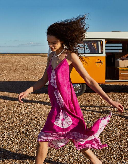 Kali Tie Dye Hanky Hem Dress, Pink (PINK), large
