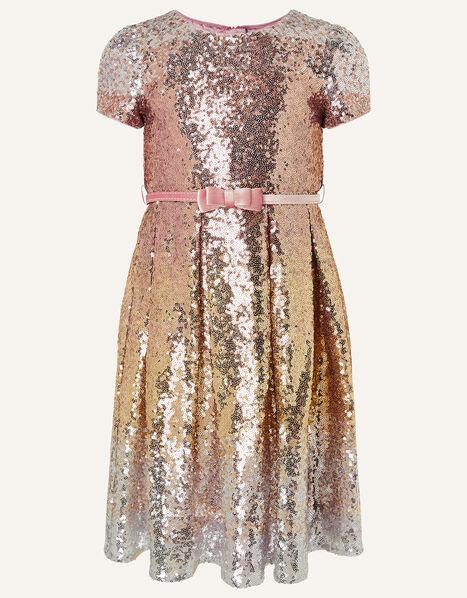 Sparkle Sequin Dress  Gold, Gold (ROSE GOLD), large