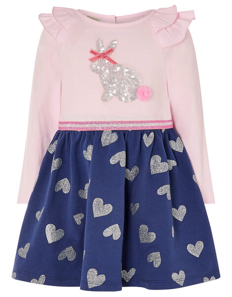 Baby Bunny 2-in-1 Dress in Organic Cotton Blue, Blue (NAVY), large