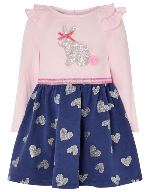 Baby Bunny 2-in-1 Dress in Organic Cotton, Blue (NAVY), large