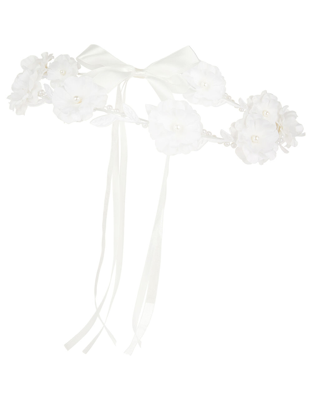 Lacey Flower Pearl Garland, , large