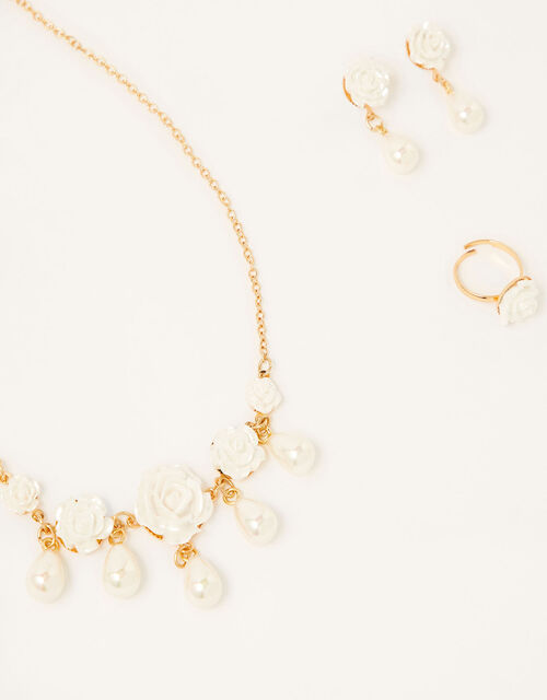 Pearly Rose Jewellery Set, , large