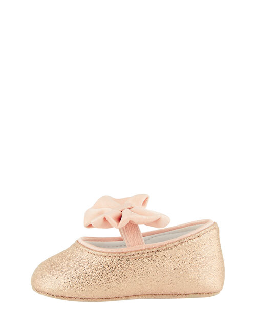 Baby Samira Gold Bow Bootie Shoes, Gold (GOLD), large