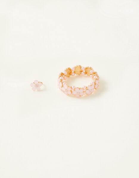 Facet Flower Bracelet and Ring Set , , large