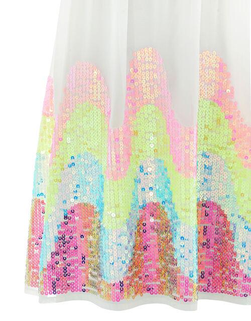 Sophia Rainbow Sequin Dress, Multi (MULTI), large