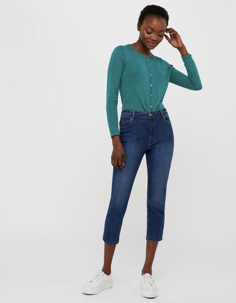 Idabella Cropped Jeans with Organic Cotton Blue, Blue (DENIM BLUE), large